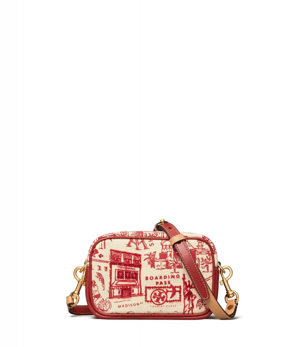 ペリー プリンテッド キャンバス ミニ バッグ(W17×H11×D7cm)¥43,000/トリー バーチ ジャパン