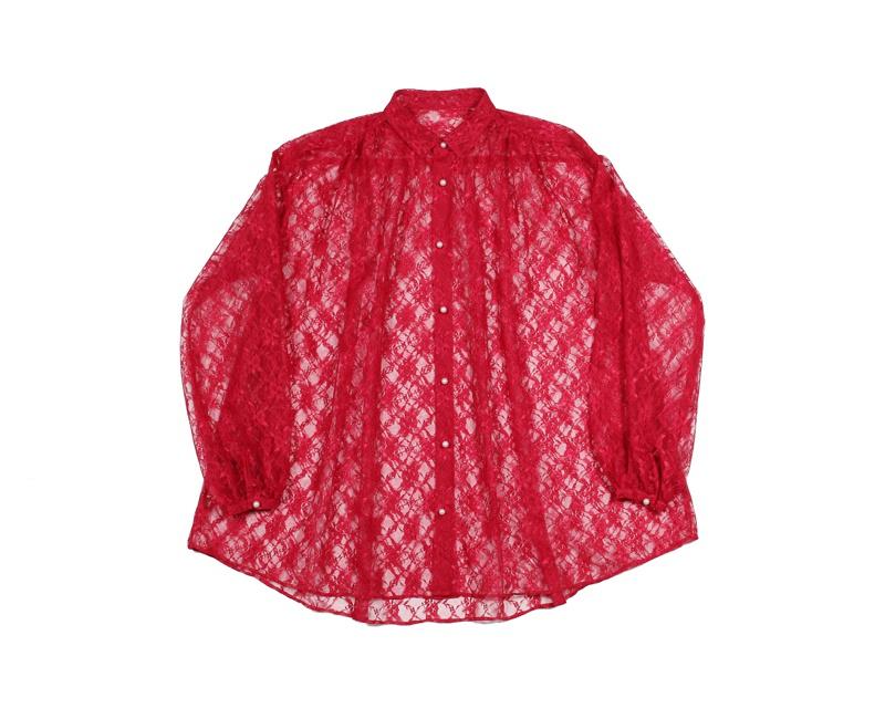 ギャザーシャツ¥19,000