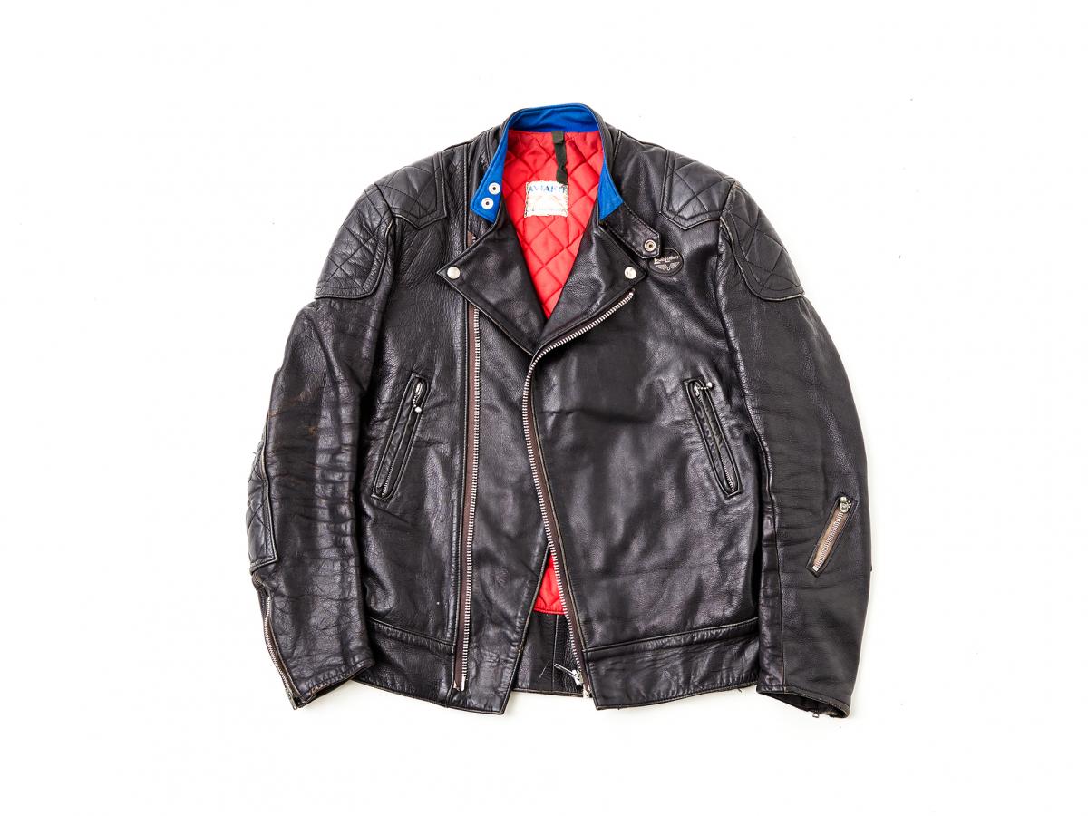ヴィンテージレザージャケット ¥200,000(税抜)(ポール・スミス直筆のメッセージが入ったタグ付き)
