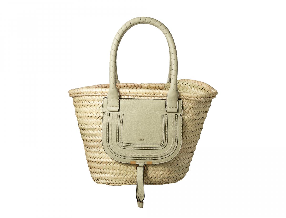 Medium basket bag(H25.5×W43.5×D25cm)¥77,000(ライトユーカリプタス)/クロエ カスタマーリレーションズ