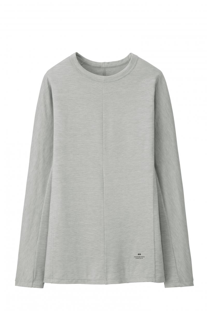 ヒートテックリブクルーネックT(長袖) ¥1,990/ユニクロ