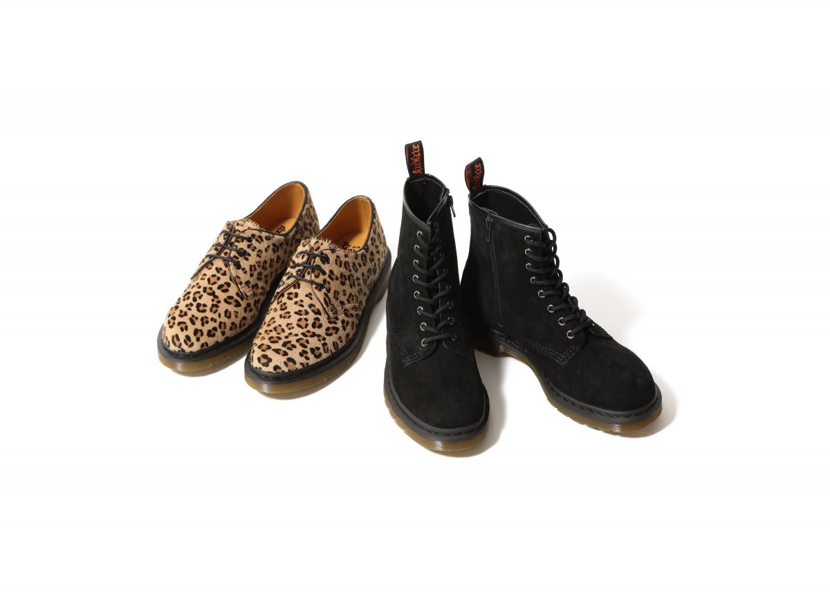 靴「8ホールブーツ」¥27,000/ビームス(ドクターマーチン×レイ ビームス)  靴「3ホールシューズ」¥32,000(日本限定)/ビームス(ドクターマーチン×レイ ビームス)