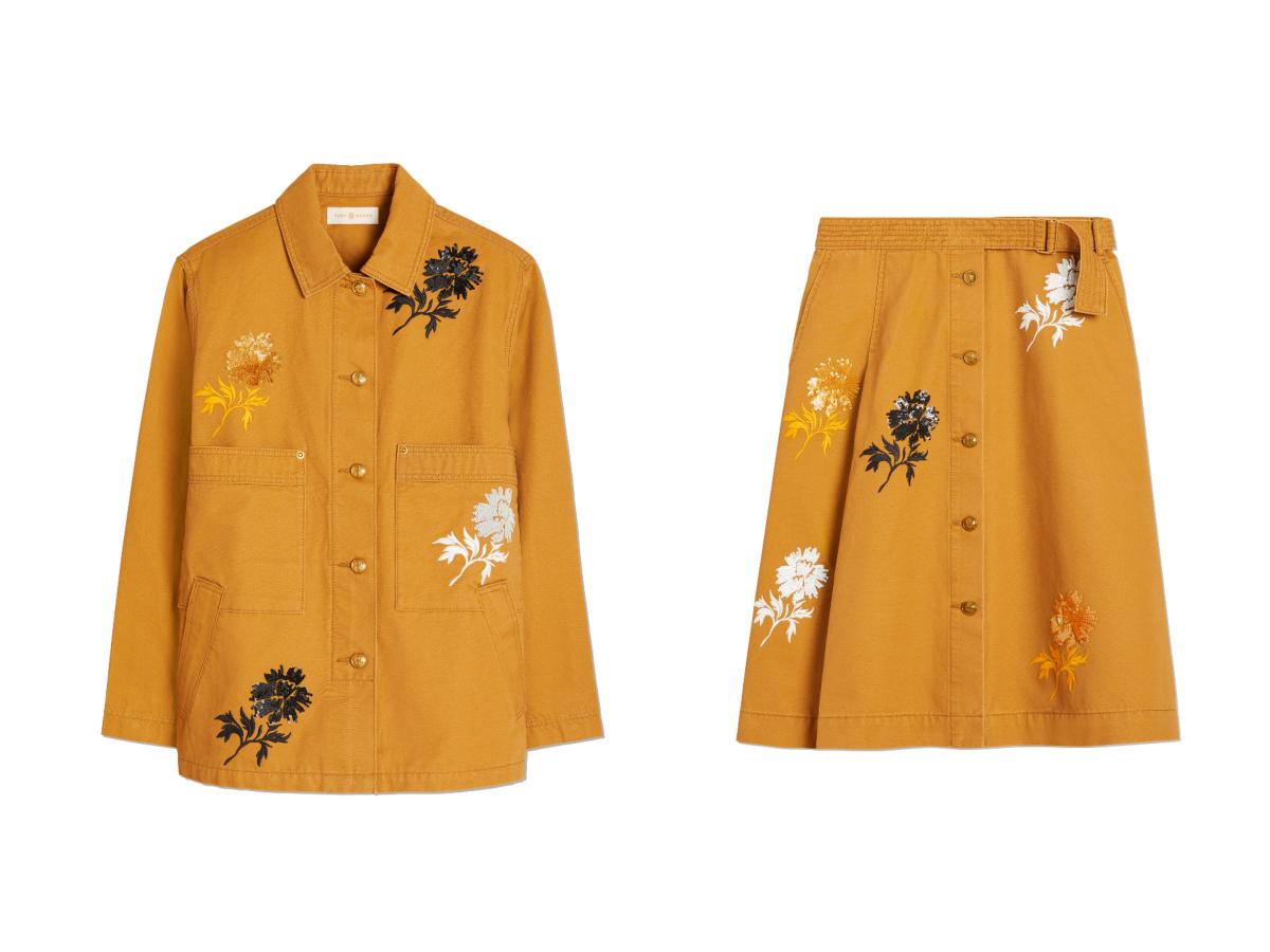 ジャケット ¥75,000、スカート ¥60,000  ※ともに三越伊勢丹限定/トリー バーチ ジャパン