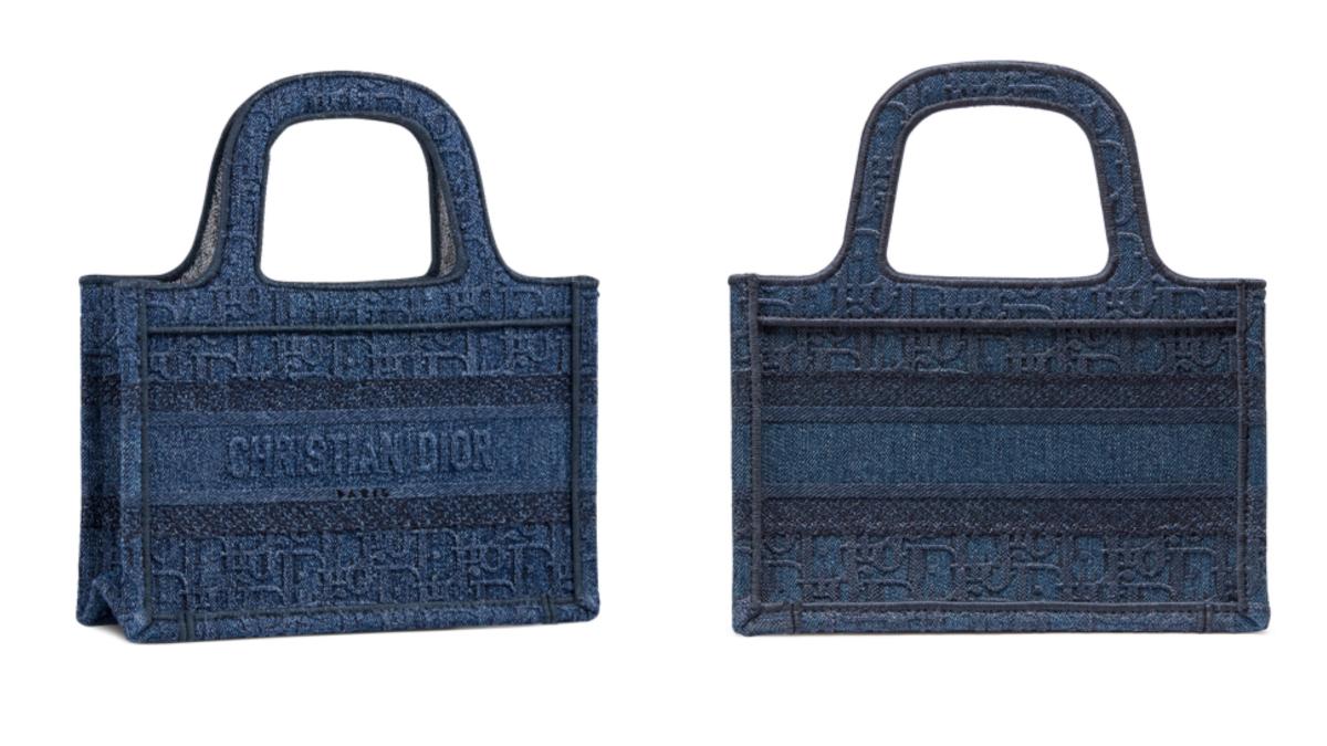 ミニ「ブック トート」(H22.5×W24×D8cm)デニム ディオール オブリーク ¥220,000/クリスチャン ディオール