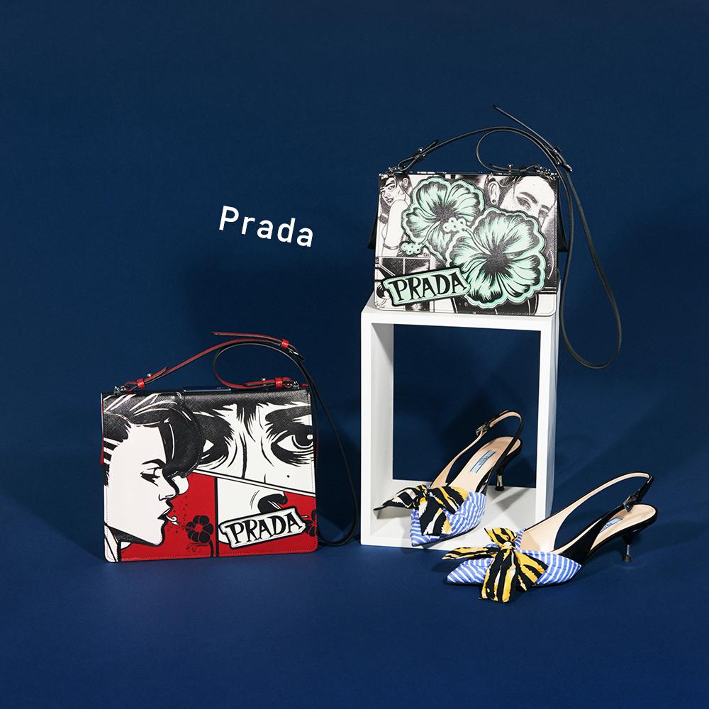 (右上から時計回りに)バッグ[H17.5×W23×D8.5cm]¥270,000・パンプス[ヒール5.5cm]¥105,000・バッグ[H20.5×W27×D9.5cm]¥270,000(すべて予定価格)