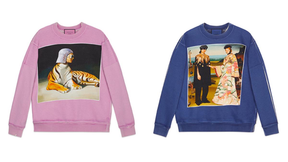 スウェット各¥148,000 Courtesy of Gucci