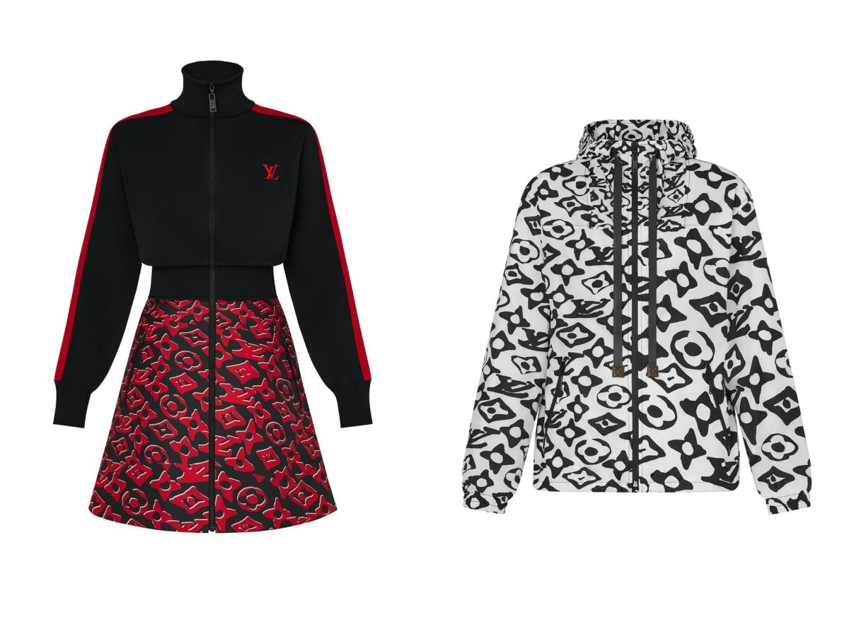 (左より)ニットドレス ¥283,000、ナイロンアウター ¥388,000(ともに予定価格)/ルイ・ヴィトン クライアントサービス
