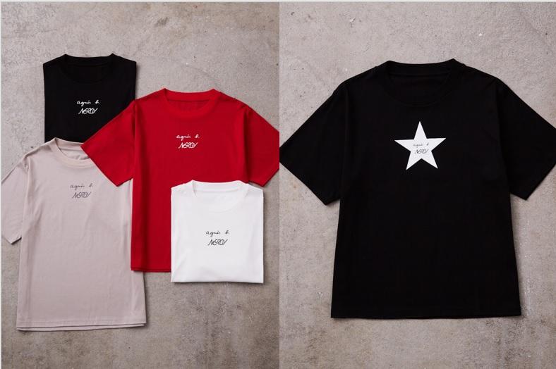コラボロゴTシャツ¥8,800/ジュン(ナージー × アニエスベー)スタープリントTシャツ¥8,800/ジュン(ナージー × アニエスベー)