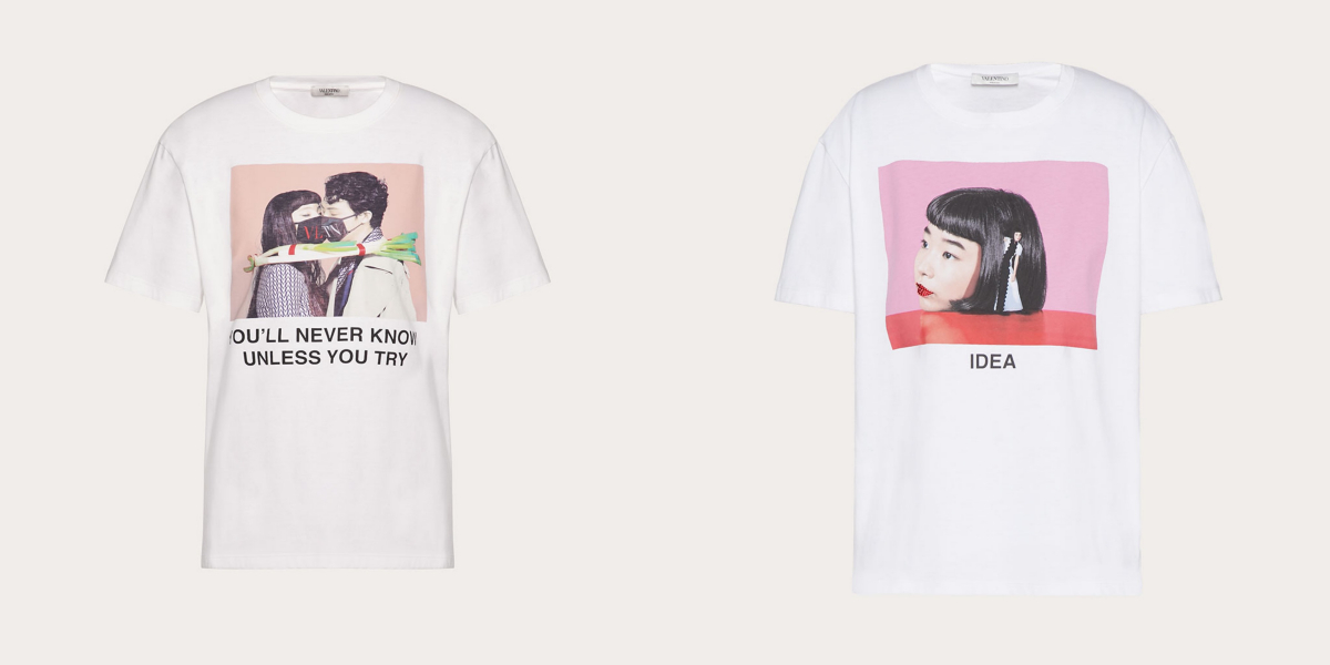 Tシャツ 各¥50,000/ヴァレンティノ インフォメーションデスク