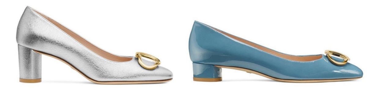 ANICIA60 in Silver ¥58,000、ANICIA25 in Cerulean ¥56,000/スチュアートワイツマンカスタマーサービスジャパン