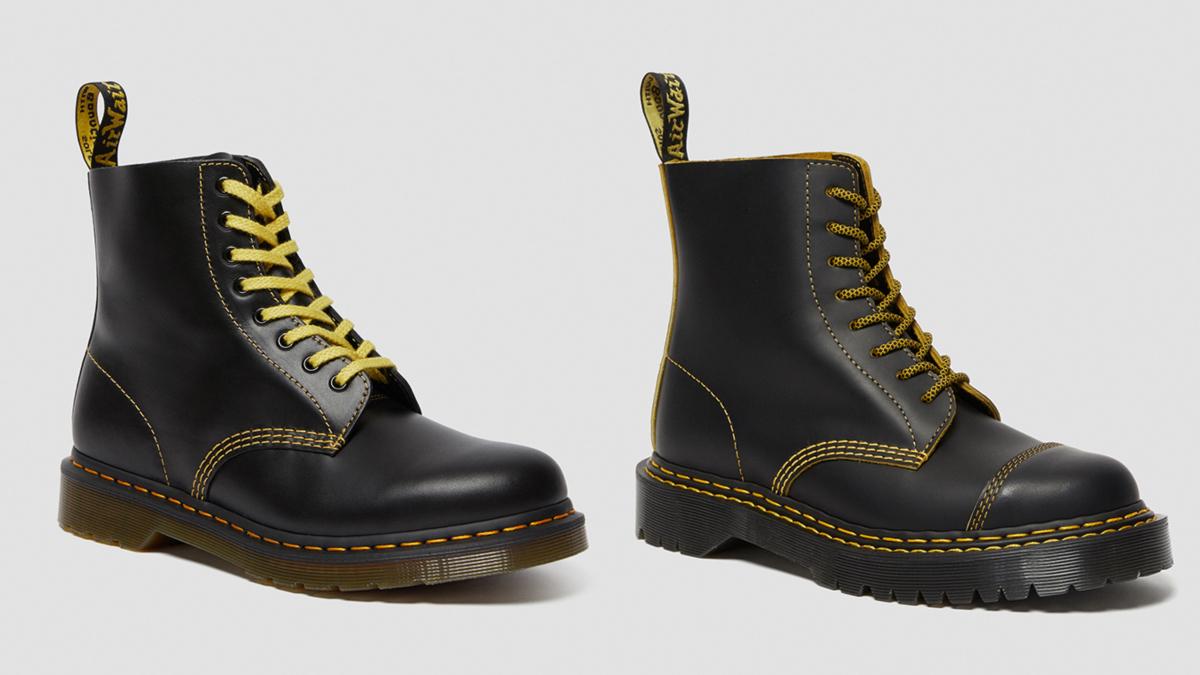 (左より)1460 PASCAL ATLAS 8 ホール ブーツ ¥22,000、1460 PASCAL BEX DOUBLE STITCH 8 ホール ブーツ ¥30,000/ドクターマーチン・エアウエア ジャパン