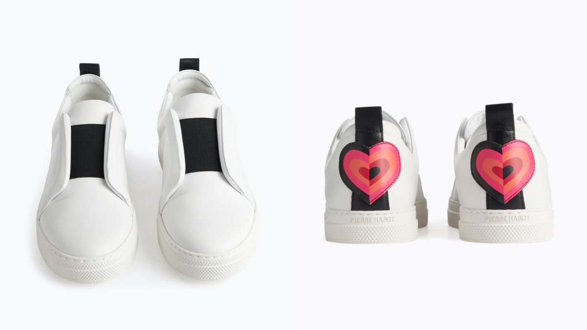 SLIDER Sneakers /White-red heart ¥71,500/ピエール アルディ