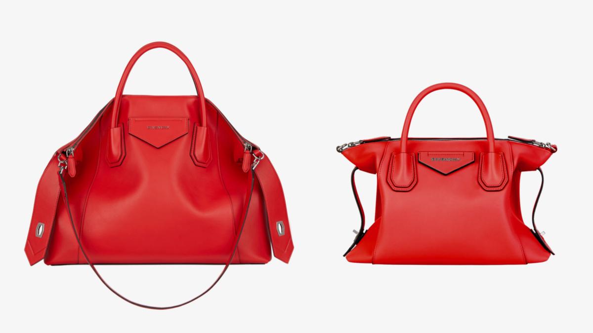 (左より)Antigona Soft/Medium(H47×W60×D17cm)¥245,000、Antigona Soft/Small(H23×W33×D17cm)¥195,000/ジバンシィ表参道店