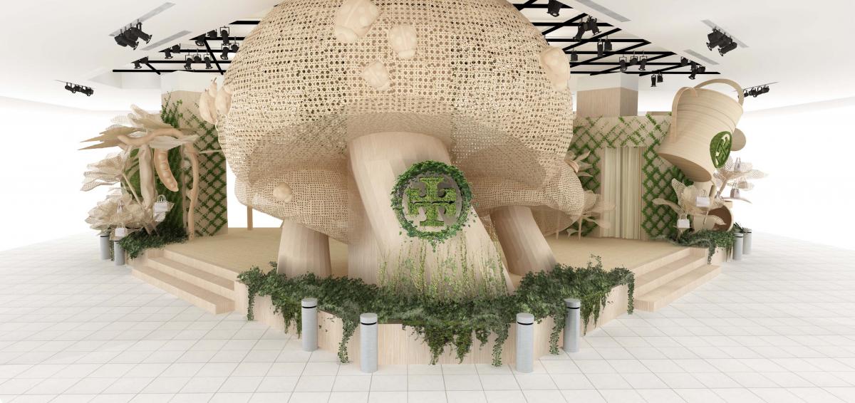 『秘密の花園』をイメージした店舗デザイン