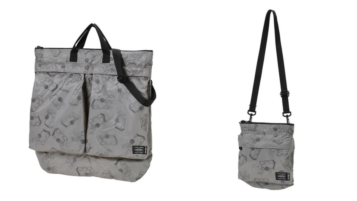 2WAY HELMET BAG ¥42,900、SHOULDER BAG ¥21,450/ポーター 表参道(ポーター)