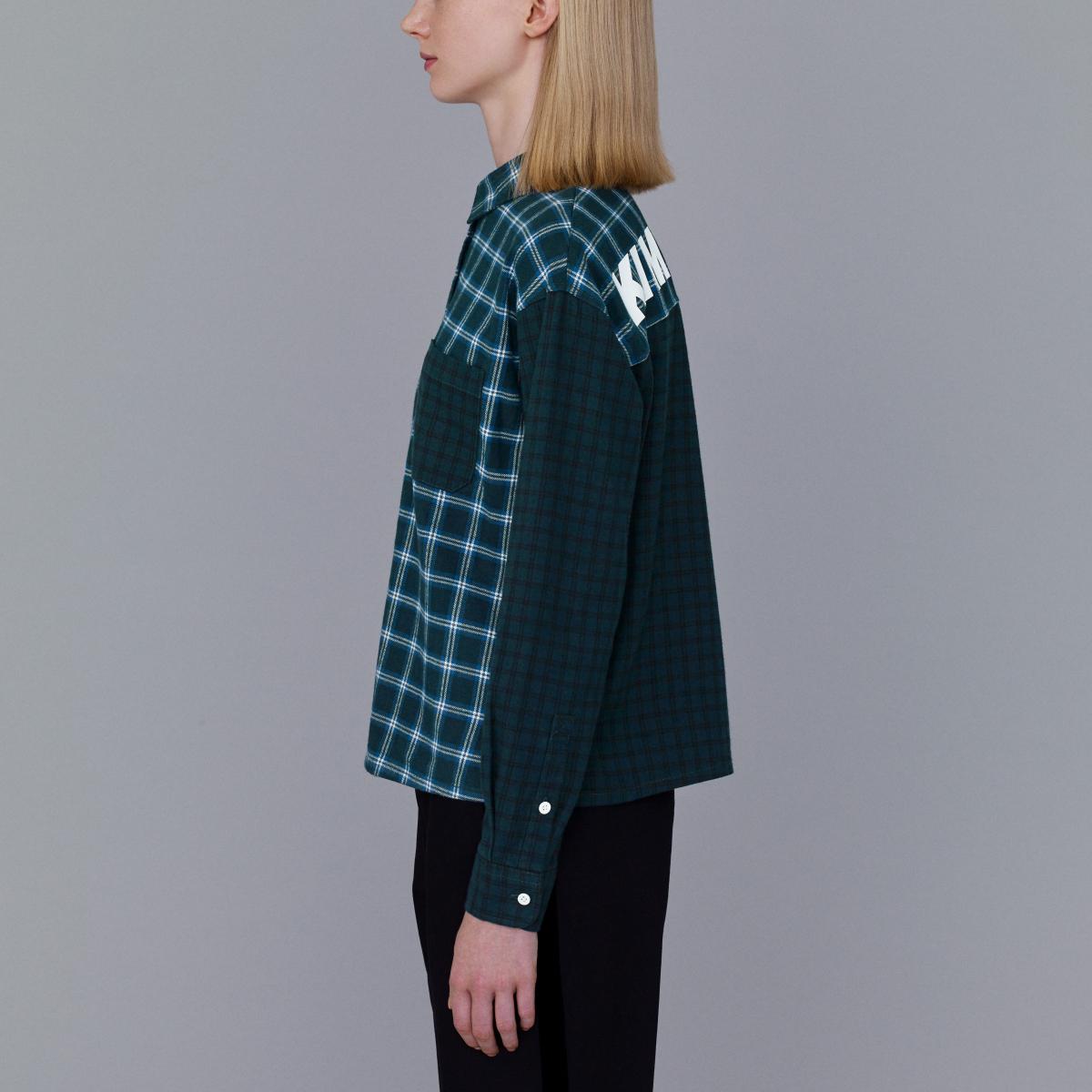 フランネルチェックカラーブロックシャツ¥2,490/ジーユーカスタマーセンター(KIM JONES GU PRODUCTION)