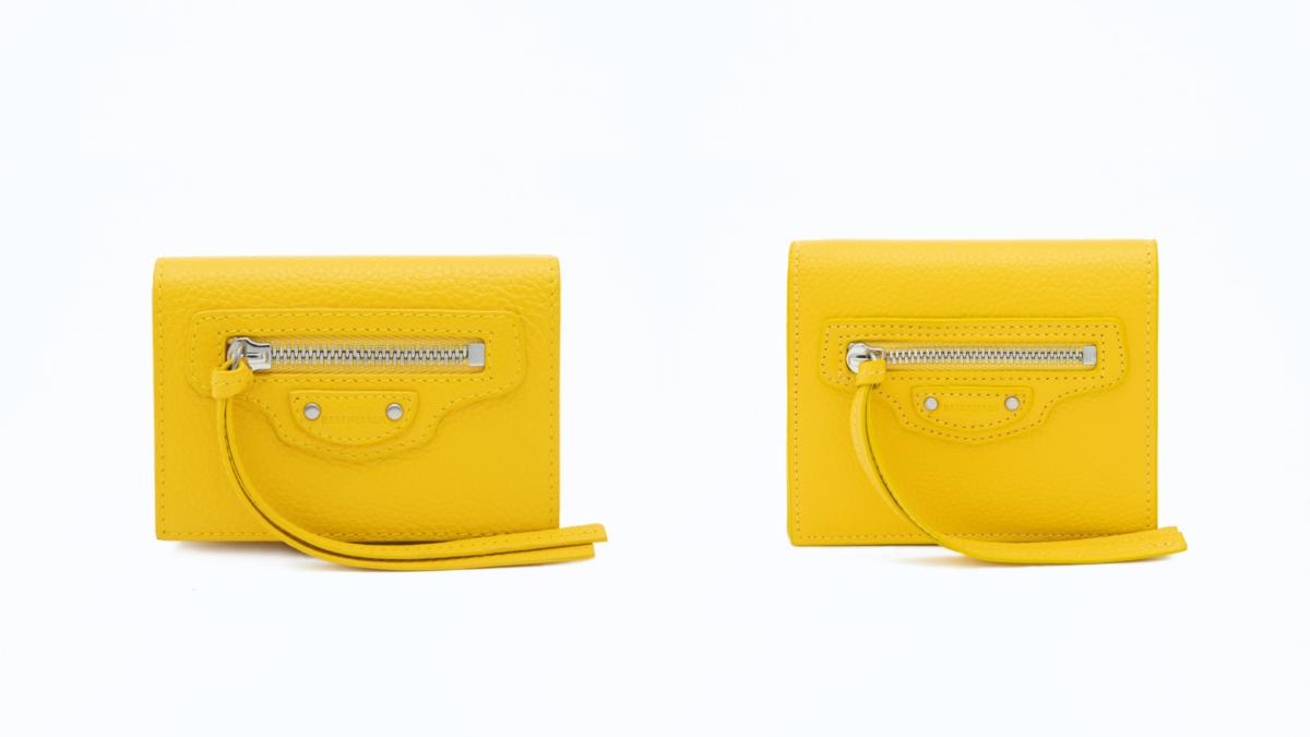 (左より)ネオ クラシック シティ ミニ ウォレット(W9.5×H7×D4cm) ¥42,000、ネオ クラシック フラップ コイン&カード ウォレット(W10×H9×D2.5cm) ¥38,000/バレンシアガクライアントサービス