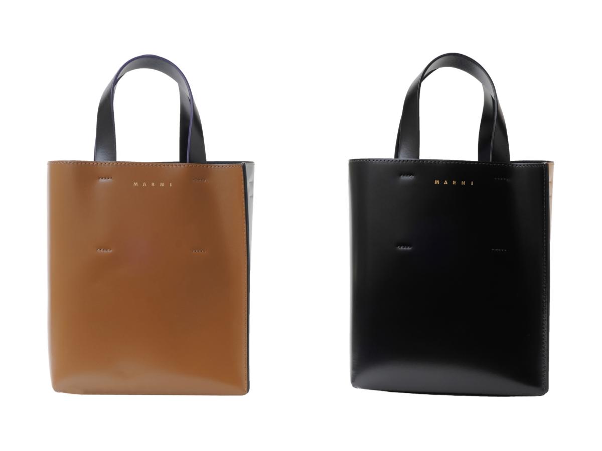 """""""MUSEO"""" BAG(H22×W20×D10cm)各¥108,900(※日本限定カラー)/マルニ ジャパン クライアントサービス"""