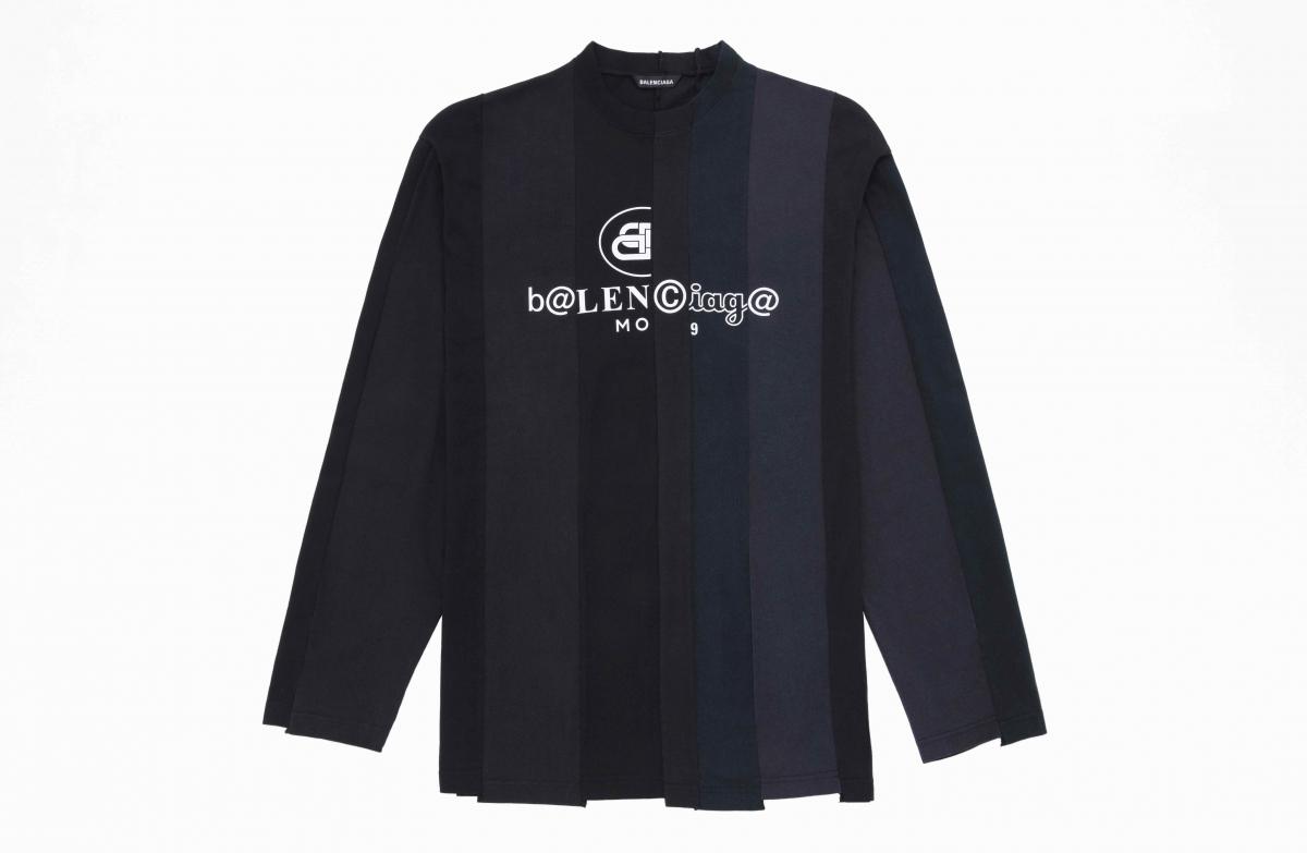 カットアップ ロングスリーブTシャツ ¥80,000/バレンシアガクライアントサービス