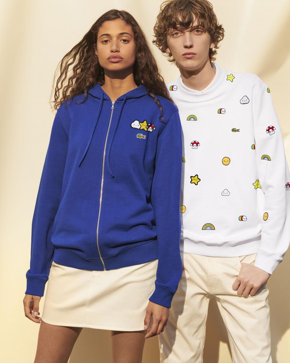 フレンズウィズユー(左)スウェットシャツ  ¥28,000、(右)参考商品/ラコステお客様センター