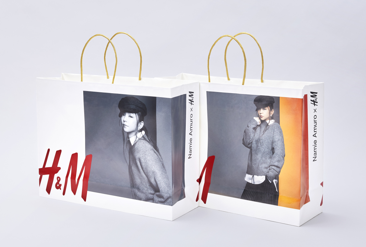 「Namie Amuro x H&M」秋の新コレクション版ショッピングバッグ ※数量限定