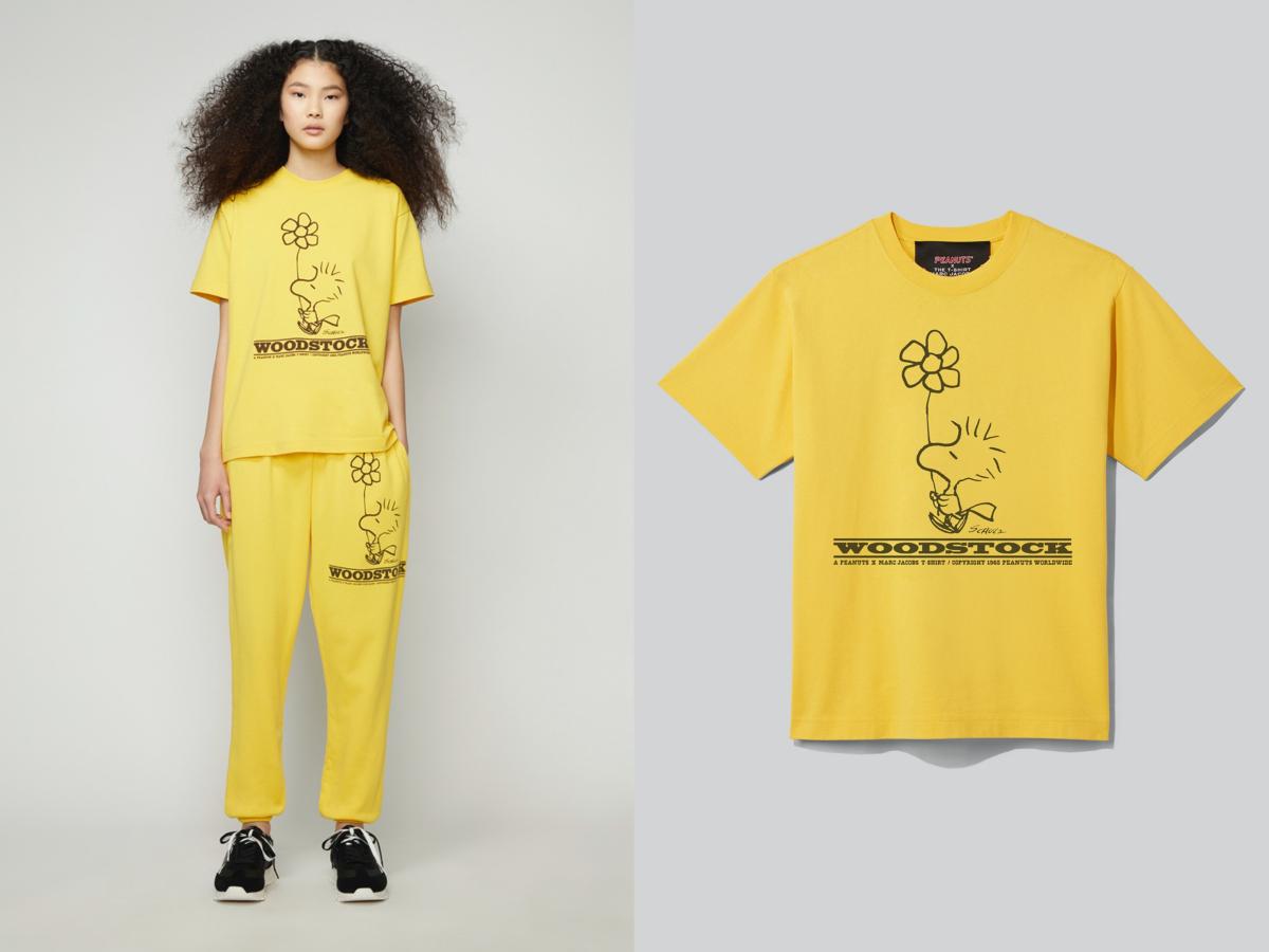 PEANUTS × THE T-SHIRT ¥18,000、PEANUTS × THE GYM PANTS ¥28,000/マーク ジェイコブス カスタマーセンター