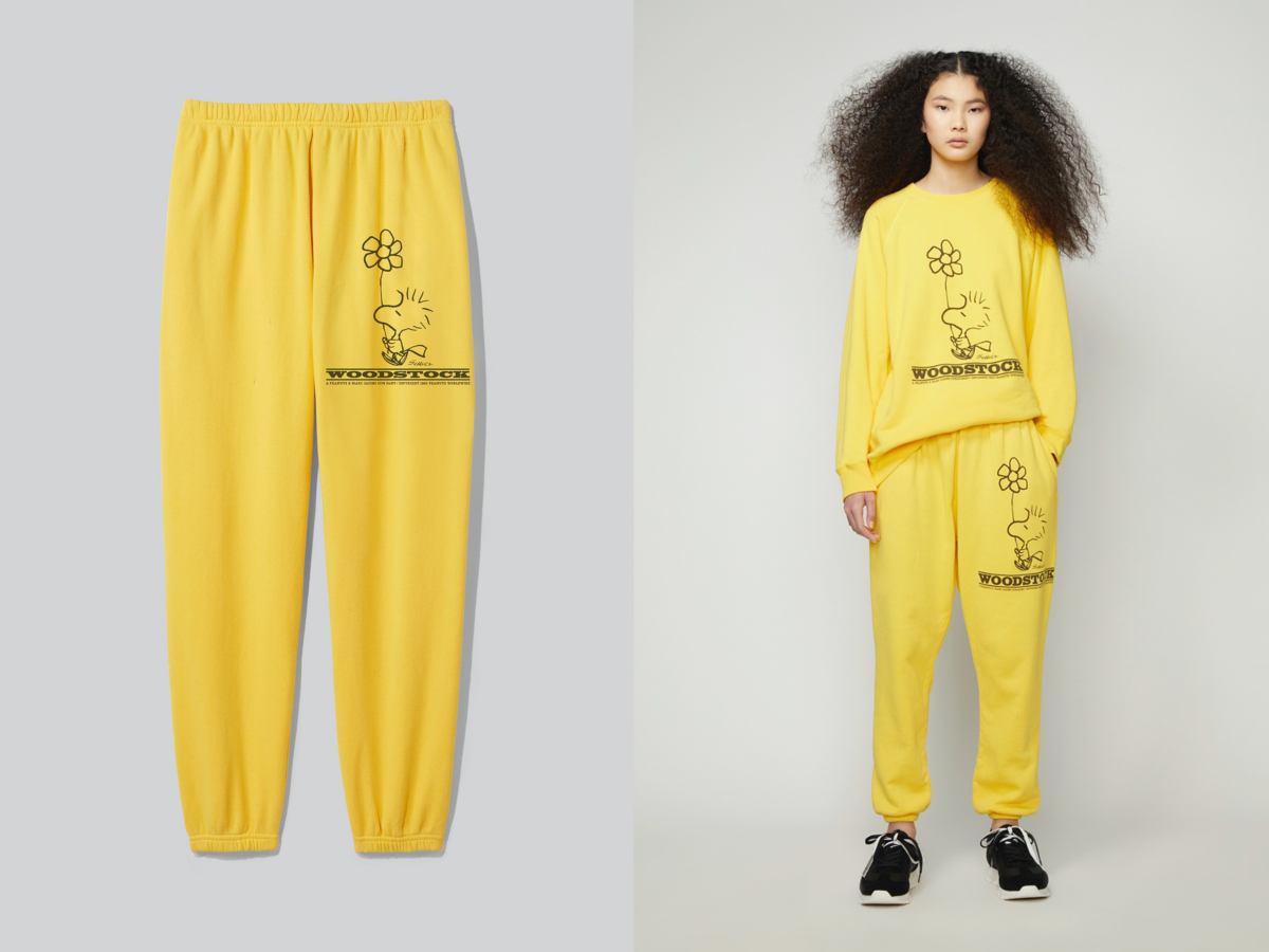 PEANUTS × THE SWEATSHIRT ¥33,000/マーク ジェイコブス カスタマーセンター PEANUTS × THE GYM PANTS ¥28,000/マーク ジェイコブス カスタマーセンター