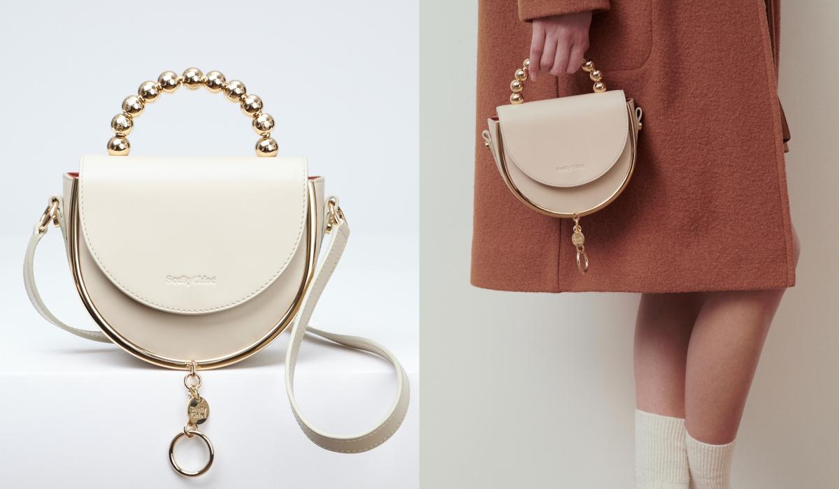 MARA EVENING BAG WITH HANDLE(H18×W17×D8cm)¥55,000/クロエ カスタマーリレーションズ
