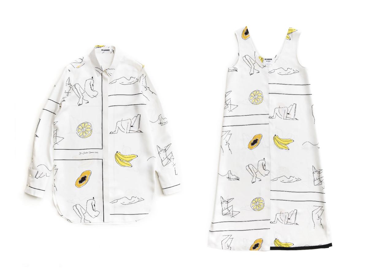 ドレス ¥248,000 ※ポップアップショップ限定アイテム/オンワードグローバルファッション(ジル・サンダー) シャツ ¥206,000 ※ポップアップショップ限定アイテム/オンワードグローバルファッション(ジル・サンダー)