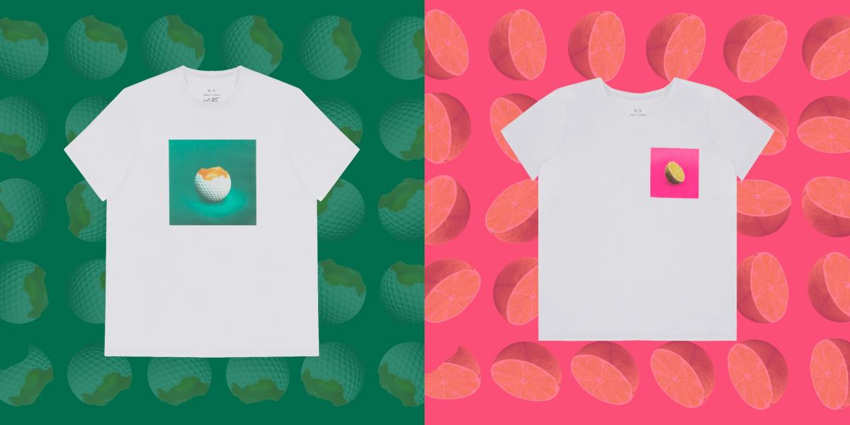 「#st_ART」Tシャツ 各¥9,400/アルマーニ エクスチェンジ
