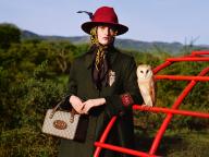 フクロウやハリネズミもモデルに!? グッチのプレフォール コレクションの広告キャンペーン