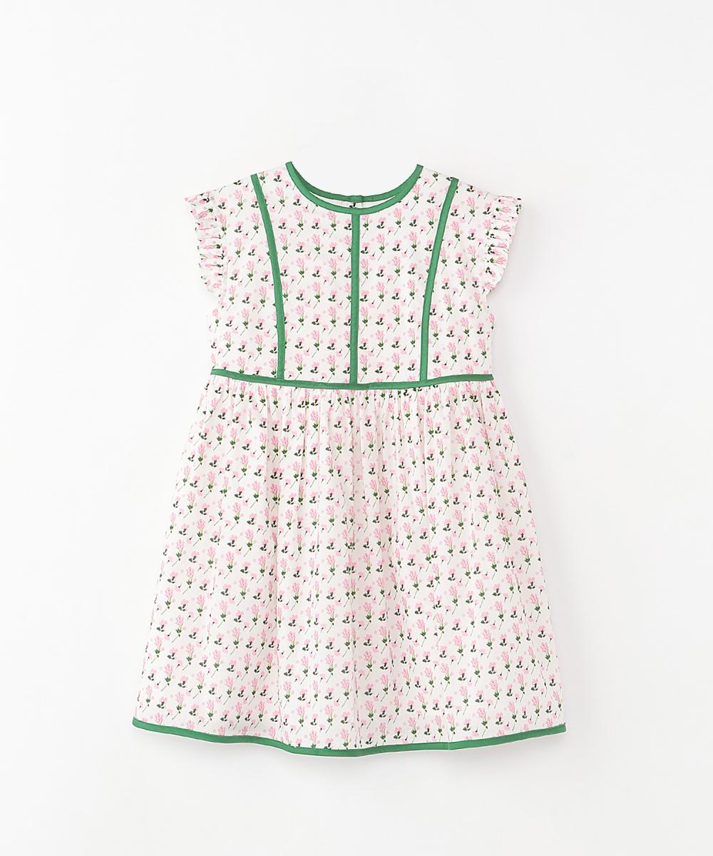 フラワープリント ドレス(ガールズ)100cm/120cm(2サイズ展開)¥30,000/伊勢丹新宿店(マメ)