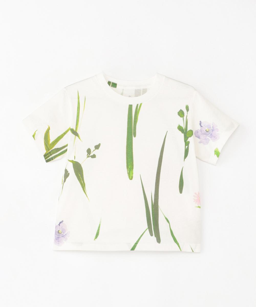 フラワープリント Tシャツ(ガールズ)100cm-120cm(1サイズ展開)¥10,000/伊勢丹新宿店(マメ)