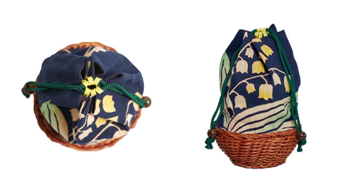 巾着バッグ(サイズ?)¥7,700/ミュベール