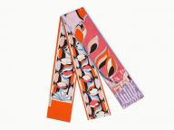 華やかな色合いをワンポイントに! スタイリングに加えたい、エミリオ・プッチの新作スカーフ