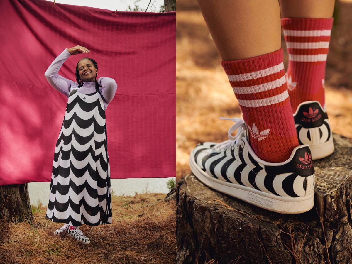 adidas x Marimekko Tank Dress (タンクドレス)¥12,100、adidas x Marimekko STAN SMITH(スタンスミス)¥13,200