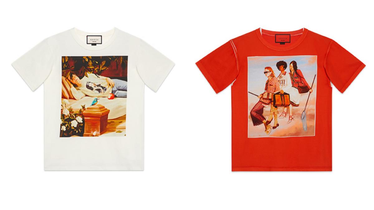 Tシャツ各¥85,000 Courtesy of Gucci