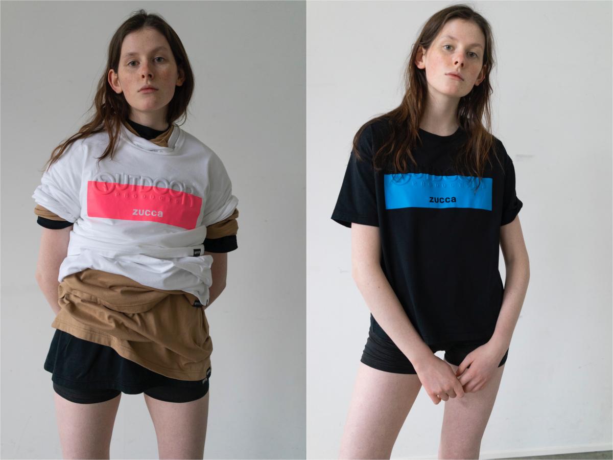 エンボスロゴTシャツ 各¥14,000/ズッカ