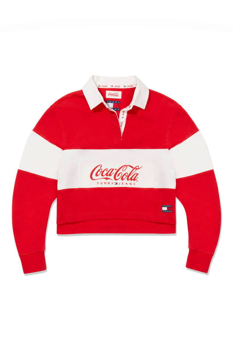 TJW TOMMY X COCA COLA CROP RUGBY ¥16,000/トミー ヒルフィガー カスタマーサービス(トミー ジーンズ コカ•コーラ)