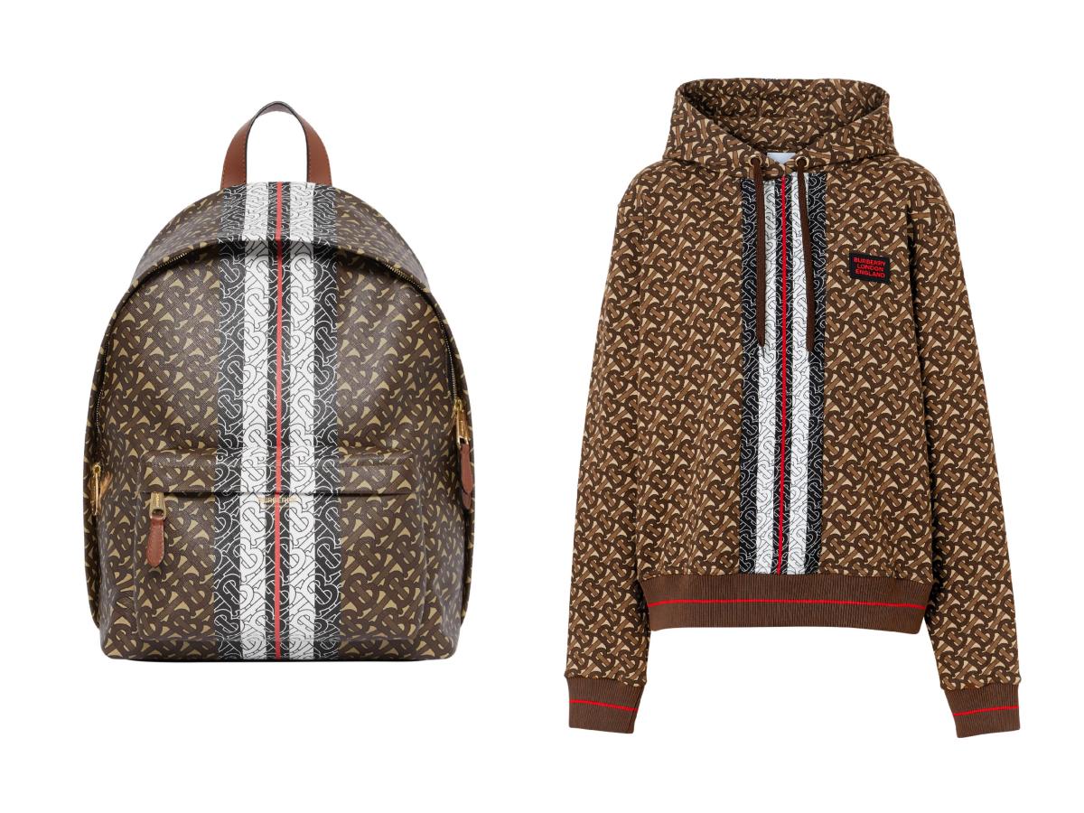 バッグパック ¥140,000、フーディー ¥110,000
