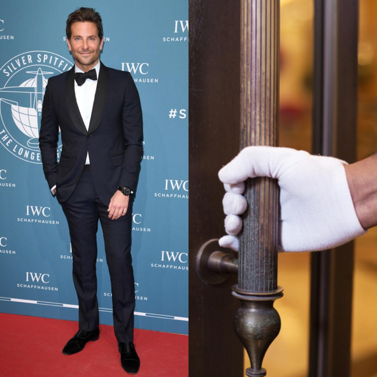 ニューヨークにあるホテルでドアマンをしていたブラッドリー・クーパー(44)。映画『タイタニック』(1997)で人気絶頂だったレオナルド・ディカプリオ(44)が宿泊したときには、レオ様を見て嫉妬したことを明かしている。