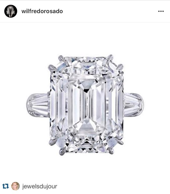 35カラットの指輪は、婚約破棄後も彼女が所有。Photo:Instagram @wilfredorosado