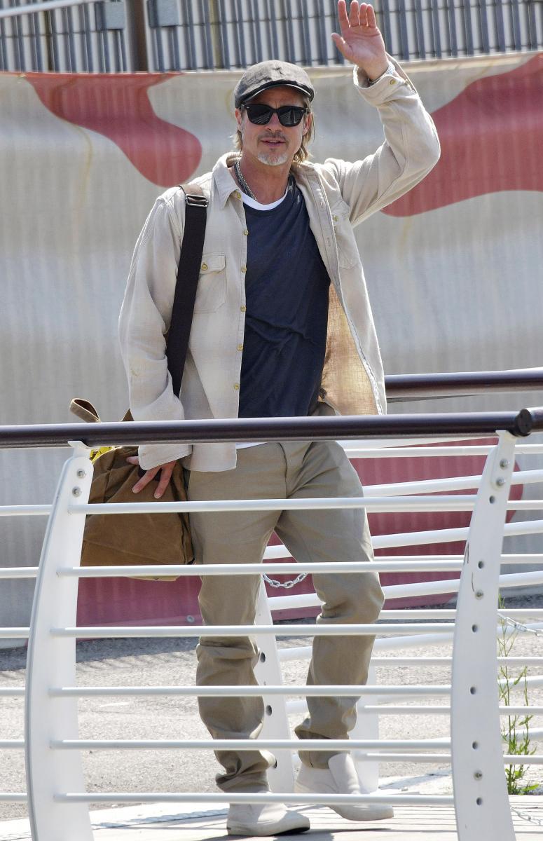 ベネチア国際映画祭に出席するため、ブラッド・ピットが現地入り。