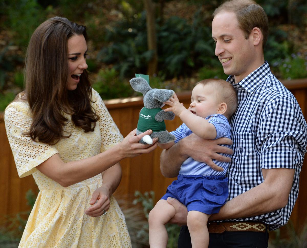 2013年、長男ジョージ王子が誕生。Photo:Getty Images