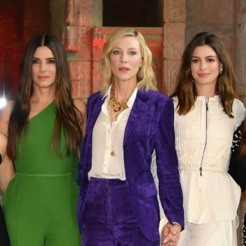 史上最強の大女優グループ誕生!? 『オーシャンズ8』の豪華キャスト陣、記者会見で大爆笑!