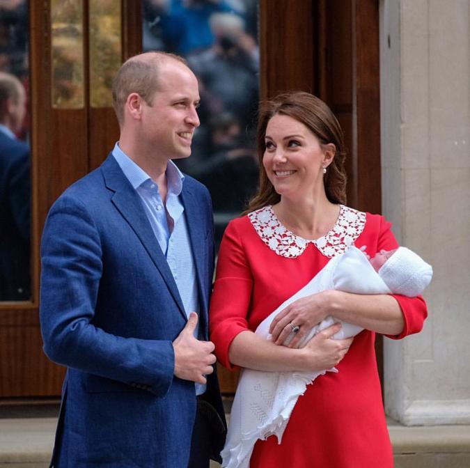 第3子誕生に、笑顔のウィリアム王子とキャサリン妃。Photo:Instagram @kensingtonroyal