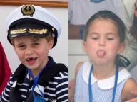 愛くるしい表情にメロメロ! ジョージ王子&シャーロット王女、ウィリアム王子&キャサリン妃のヨットレースを観戦
