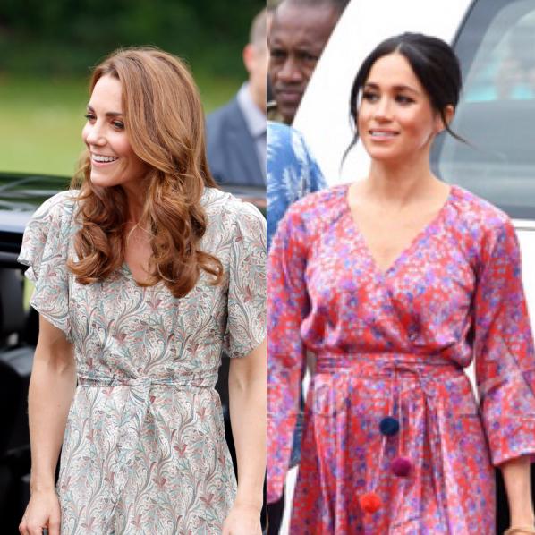 正統派キャサリン妃vs攻めのメーガン妃! 英王室のふたりが魅せるシミラールック対決