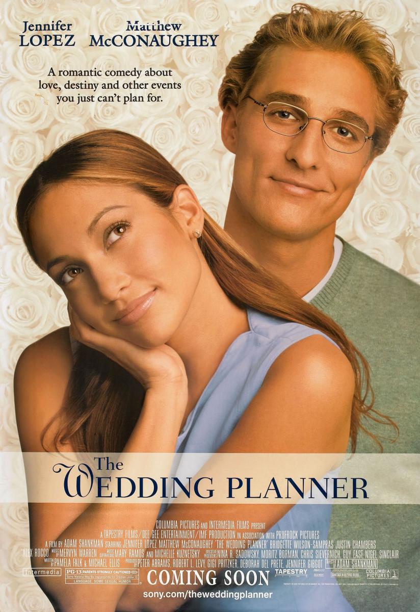 『ウェディング・プランナー』一流ウェディングプランナーのメアリー(ジェニファー・ロペス)が一目惚れした男性(マシュー・マコノヒー)は、担当するカップルの花婿だった! さらに式が成功すれば共同経営者に昇進できるとあり、彼女の心は揺れるばかり。