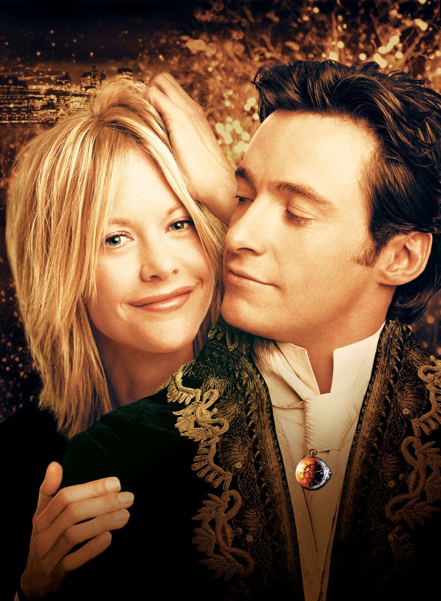 『ニューヨークの恋人』(2001)現代にタイムスリップした発明家のレオポルド(ヒュー・ジャックマン)と出会ったキャリアウーマンのケイト(メグ・ライアン)。現実的な自分とは正反対のロマンティシストなレオポルドに、戸惑いながらも惹かれていく……。